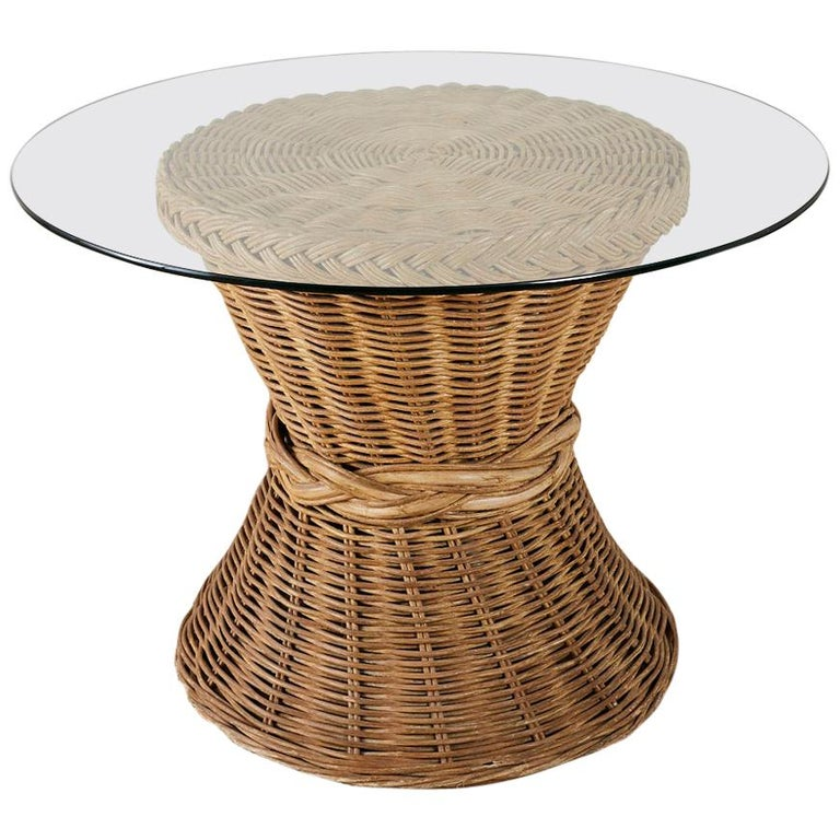 Rattan Breakfast Dining Table