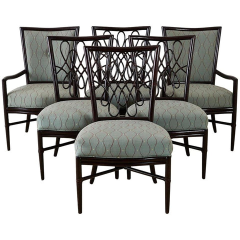 Barbara Barry for McGuire Rattan Dining Chairs
