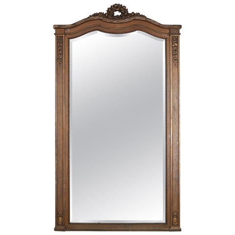 19th Century French Louis XVI Neoclassical Style Floor Mirror