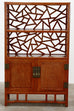 Pair of Chinese Carved Rosewood Display Cabinets or Bookcases
