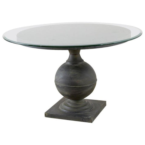Neoclassical Patinated Metal Pedestal Dining or Centre Table