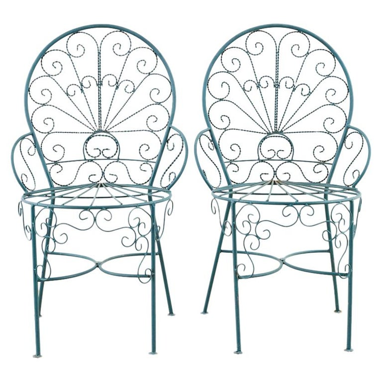 Salterini Style Iron Garden Patio Chairs