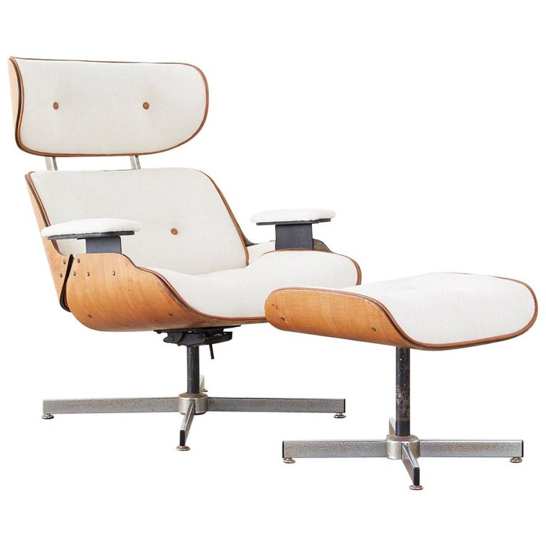 Eames Styles Lounge Chair and Ottoman by Plycraft