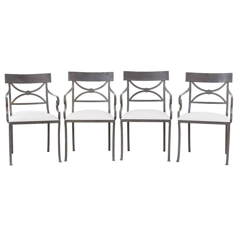 Regency Style Iron Garden Patio Chairs