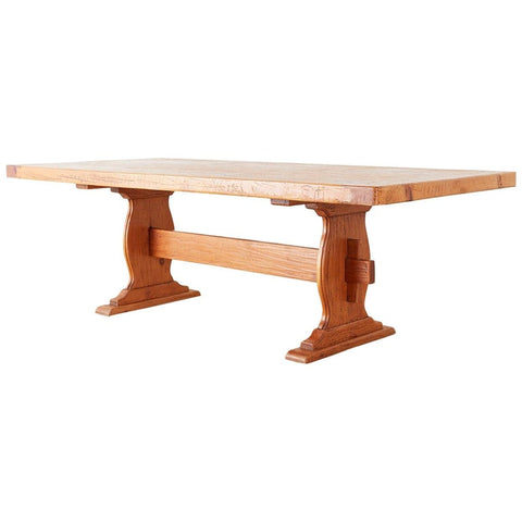 Southwest Spanish Pine Trestle Farmhouse Dining Table