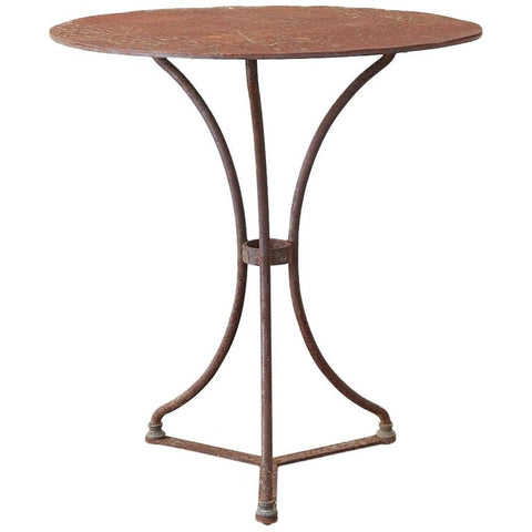 French Round Iron Bistro or Cafe Table