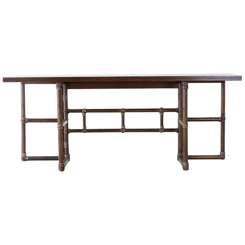 McGuire Rattan Flip-Top Console or Dining Table