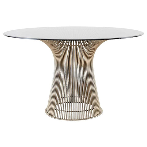 Warren Platner for Knoll Midcentury Chrome Dining Table