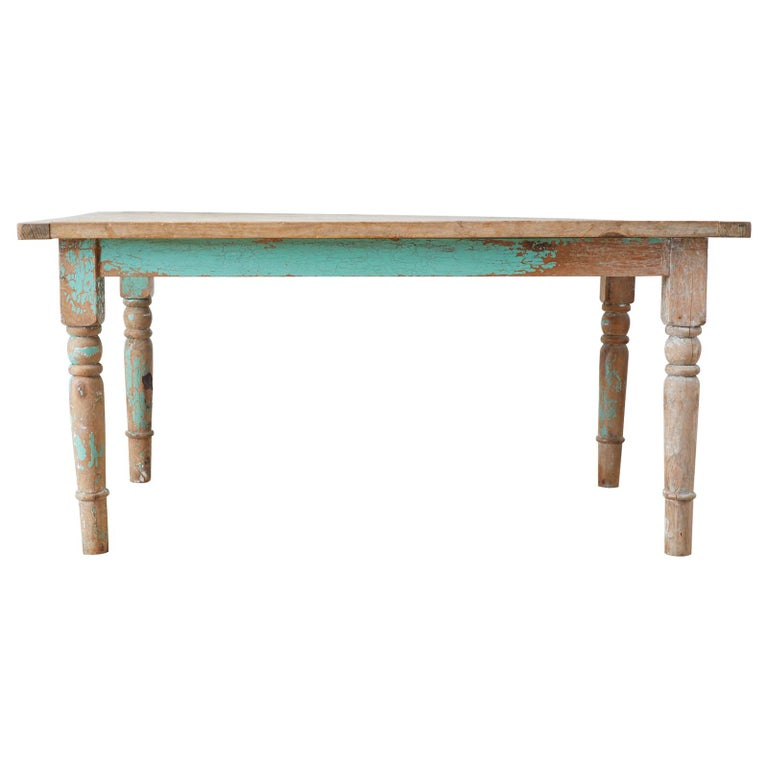 Rustic French Pine Country Farmhouse Dining Table