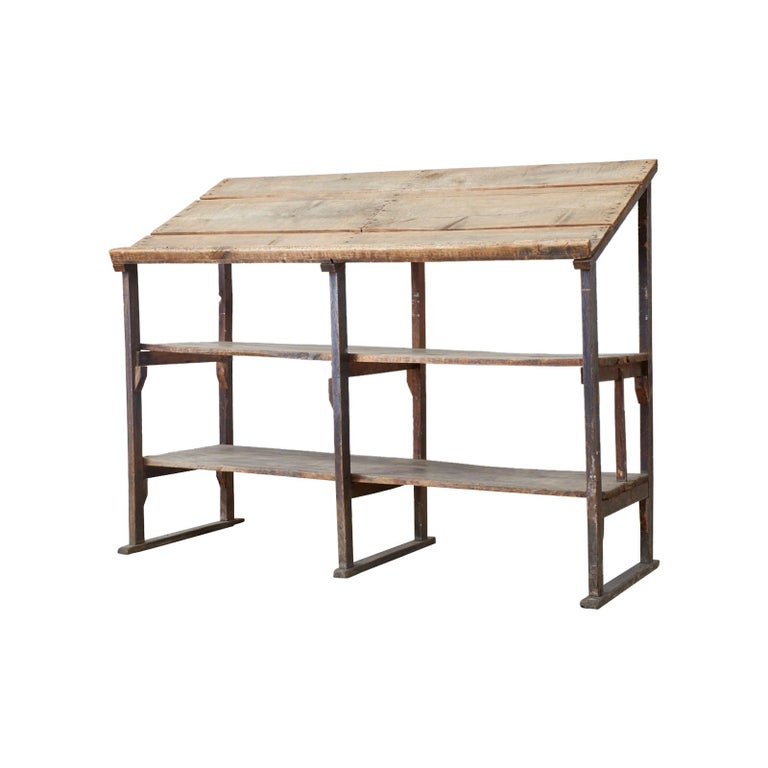 Rustic Barnwood Pine Three Shelf Display Étagère
