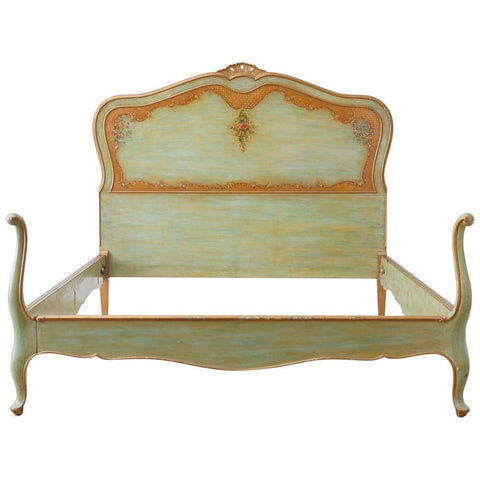 Early 20th Century French Louis XV Style Lacquered Bed