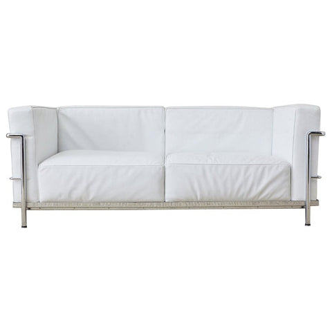 Le Corbusier LC3 Style Two-Seat Sofa by Mobelaris