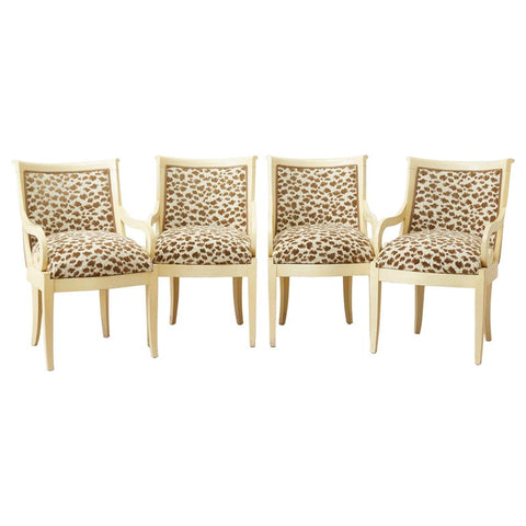 Set of Four Regency Style Lacquered Dining or Armchairs