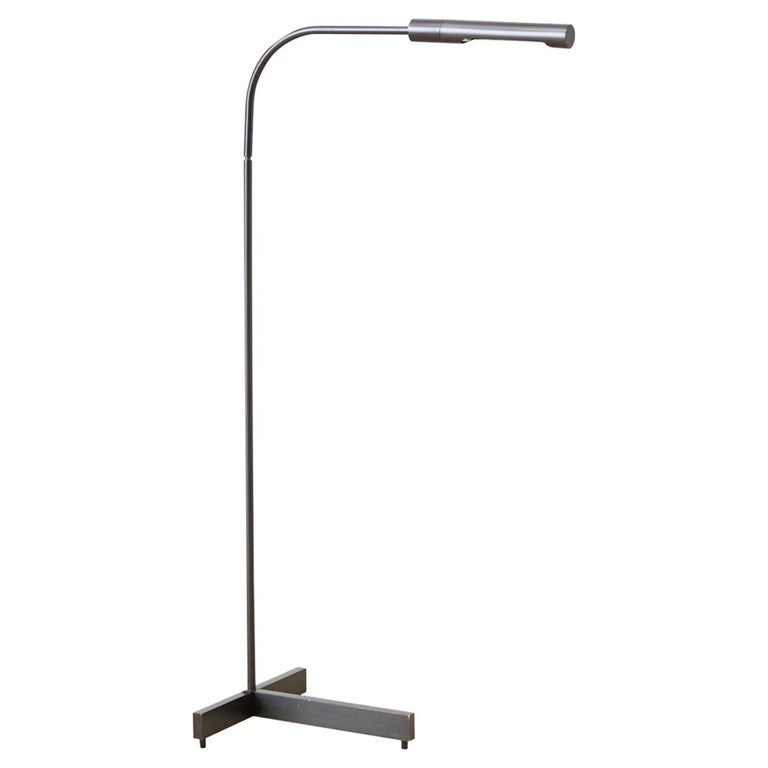 Cedric Hartman Style Bronze Pharmacy Reading Floor Lamp