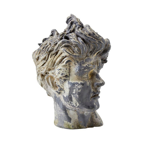 Neoclassical Stone Bust Head of a Young Man