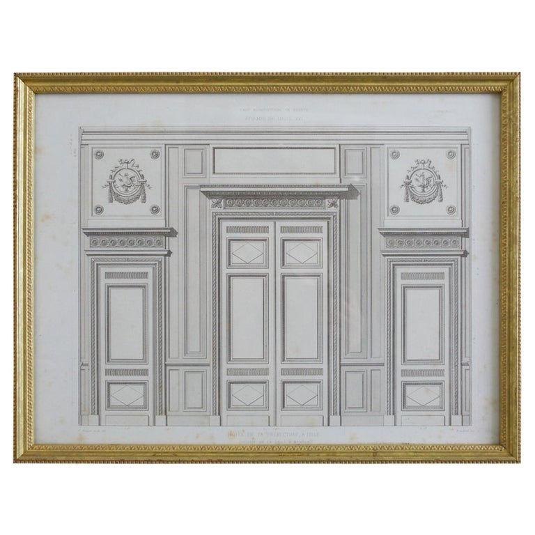 Louis XVI Architectural Print Plate by Rouyer
