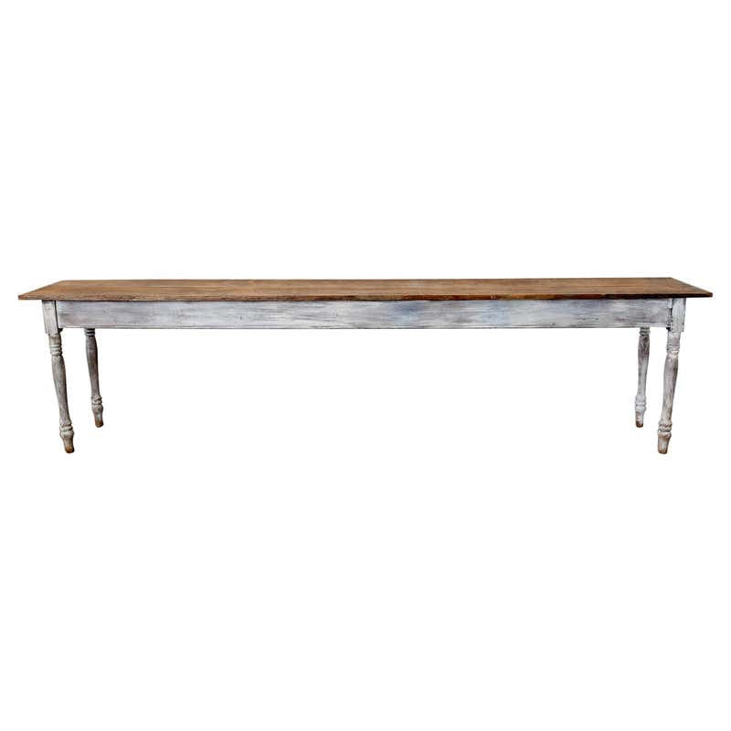19th Century American Painted Farmhouse Harvest Table