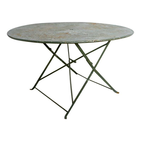 Round French Iron Folding Garden Dining Table
