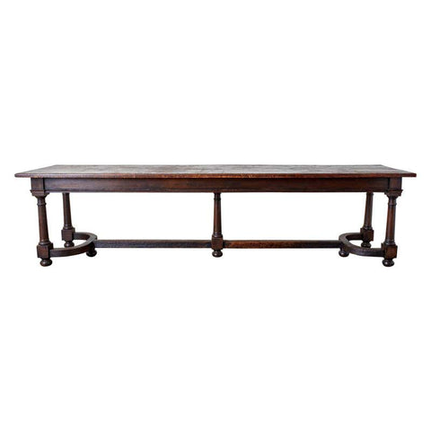 19th Century English Oak Refectory Dining Banquet Table