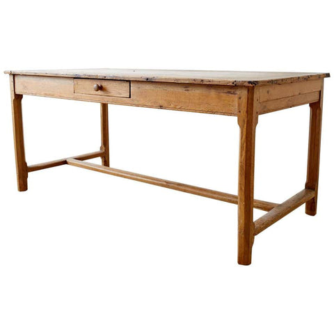 19th Century American Pine Farmhouse Dining or Writing Table