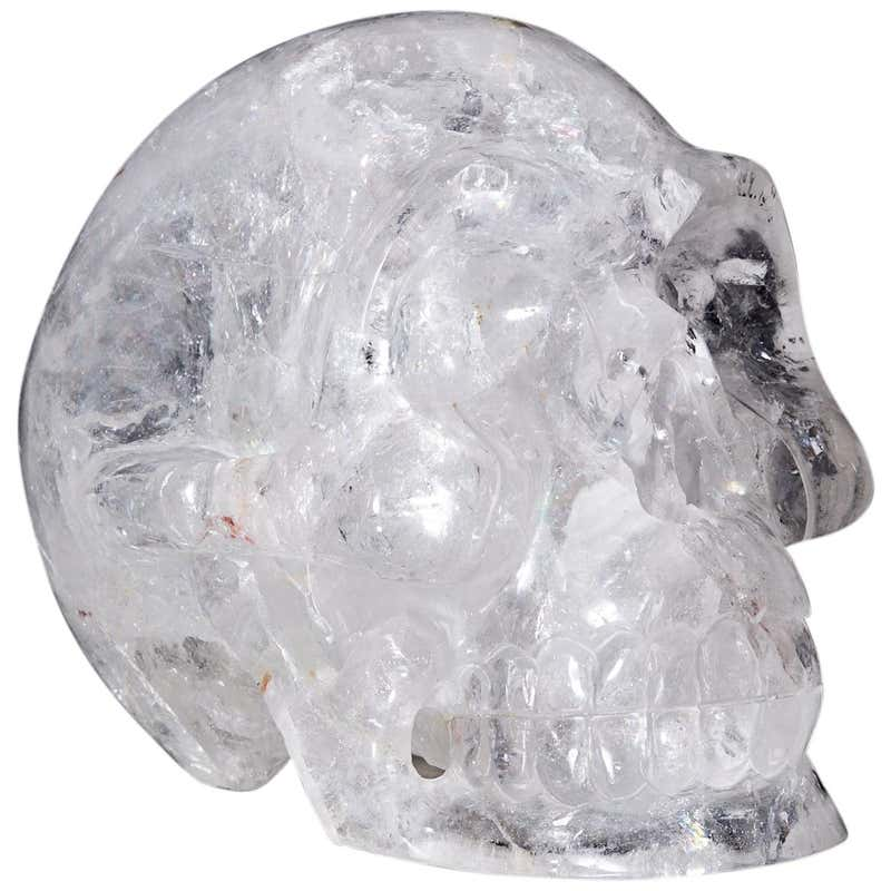 Large Quartz Rock Crystal Skull Sculpture