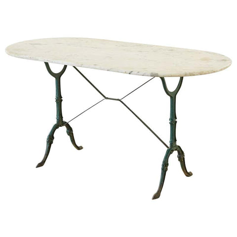 19th Century French Marble Garden Bistro Dining Table