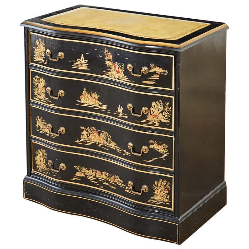 English Regency Style Chinoiserie Decorated Commode or Chest