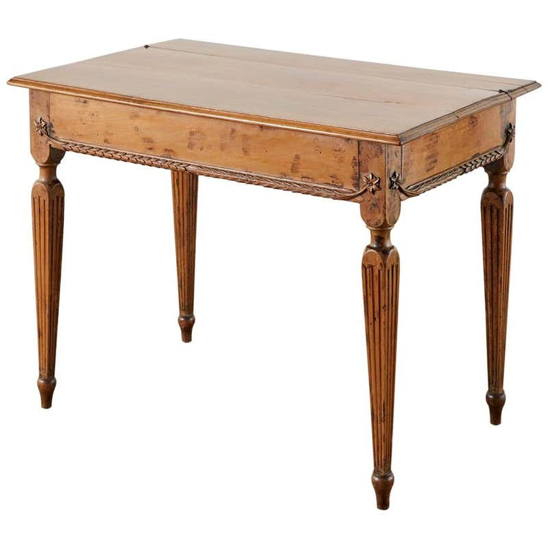 18th Century French Provincial Fruitwood Writing Table or Desk