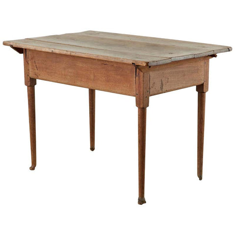 18th Century Country English Pine Farmhouse Work Table or Console