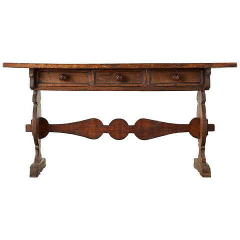 16th Century Italian Renaissance Period Walnut Library Table