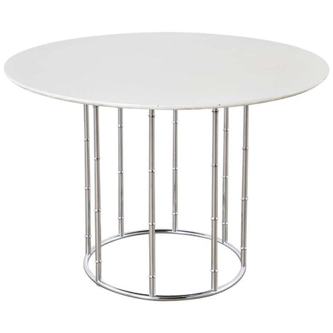 Midcentury Faux Bamboo Chrome and Formica Dining Table
