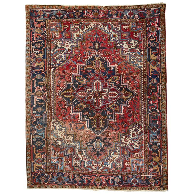 20th Century Antique Persian Heriz Carpet