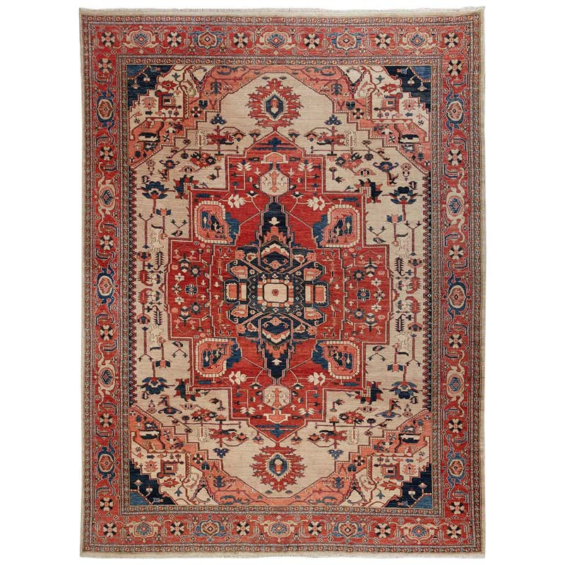 Vintage Persian Heriz Carpet