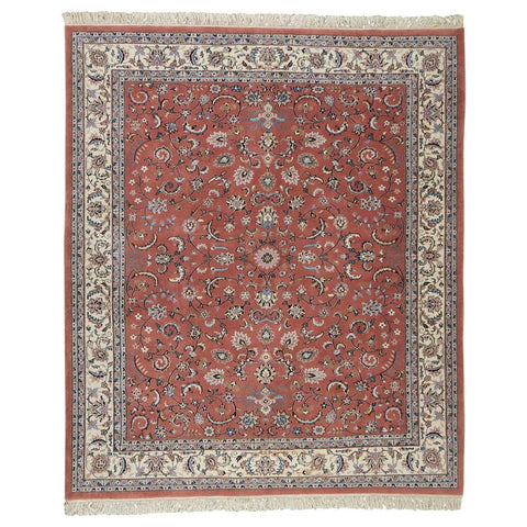 Raspberry Indo Persian Kashan Design Rug