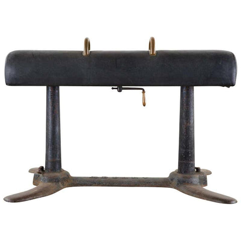Early 20th Century Medart Iron Bronze Pommel Horse