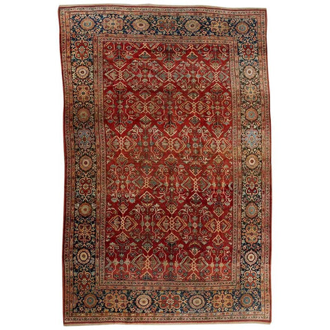 Antique Arts and Crafts Style Persian Sultanabad Rug