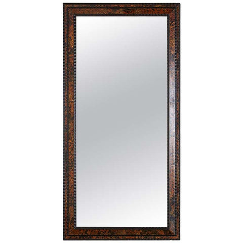 Faux Tortoiseshell and Ebony Dutch Baroque Style Mirror