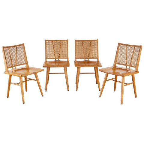Set of Four Paul McCobb Maple Dining Chairs
