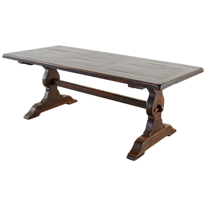 19th Century French Oak Farmhouse Trestle Dining Table