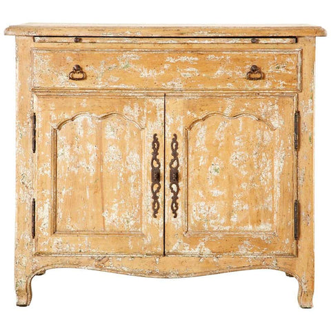 French Provincial Style Nightstand Cabinet with Pull Out Tray