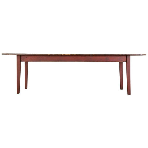 American Country Pine Farmhouse Harvest Dining Table