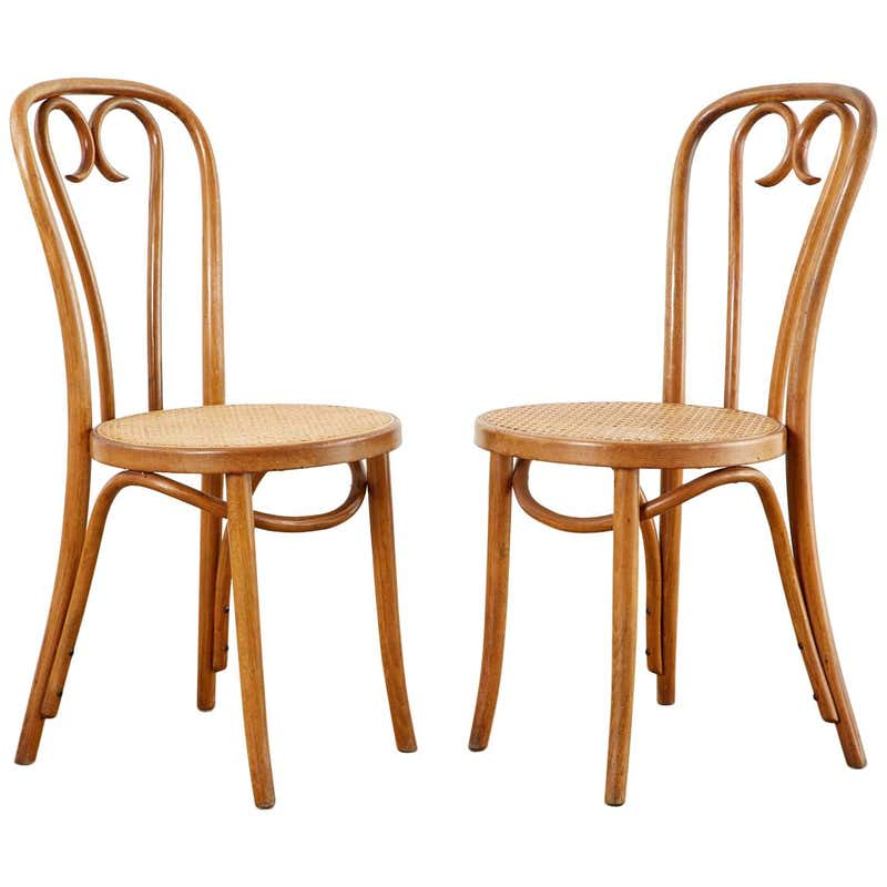 Pair of Michael Thonet A16 Style Bentwood Cafe Chairs