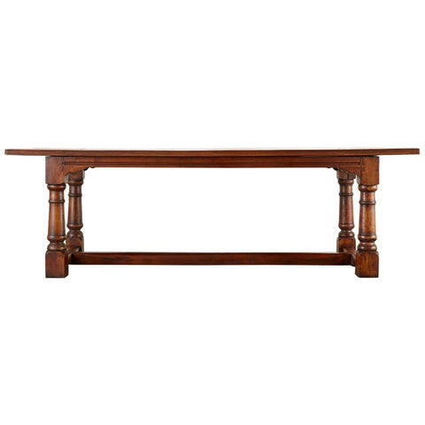 Country French Provincial Walnut Farmhouse Refectory Dining Table