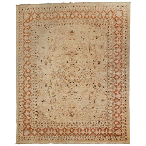 Moorish Style Vintage Turkish Oushak Rug
