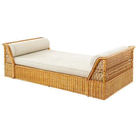 McGuire Organic Modern Rattan Wicker Daybed