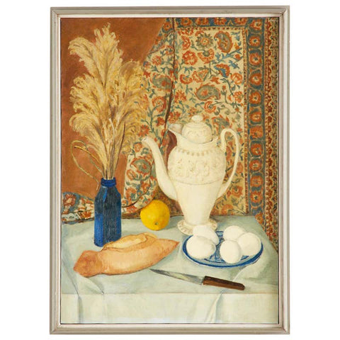 Eva Marinelli Martino Still Life Oil Canvas Painting