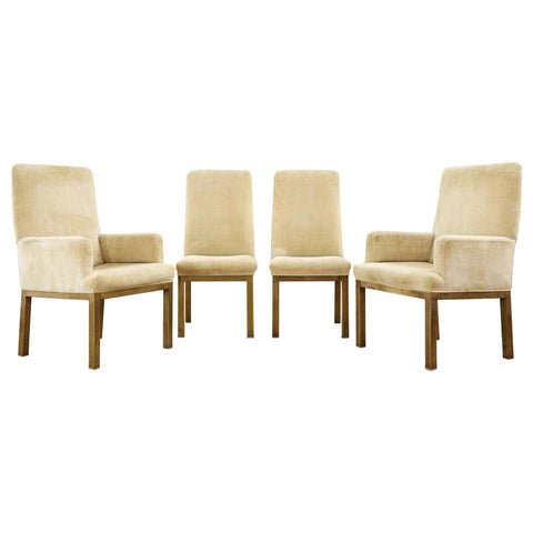 Set of Four Midcentury Bronzed Dining Chairs by Mastercraft