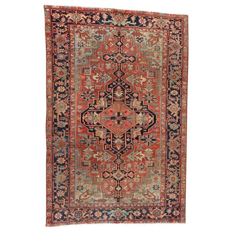 19th Century Persian Heriz Wool Rug