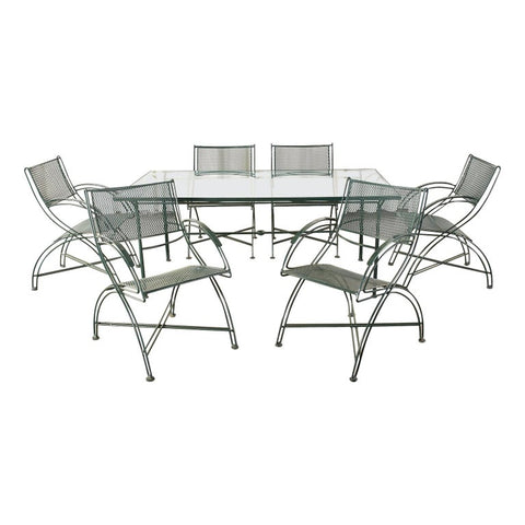 Salterini Style Wrought Iron Patio Garden Dining Set