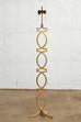 Hollywood Regency Gilt Metal Geometric Floor Lamp